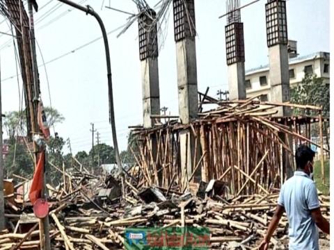 ডিএনডির সেনা প্রজেক্টের নির্মাণাধীন ঢালাই ধসে নিহত-১, আহত-৫